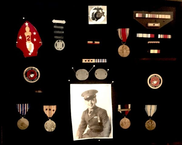 Bill in the Marines/medals he earned
