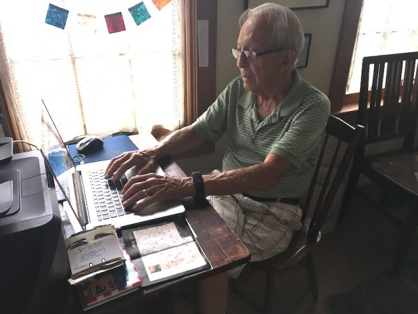 Bill at his computer