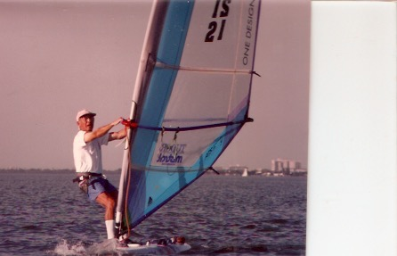 Bill Taylor windsurfing