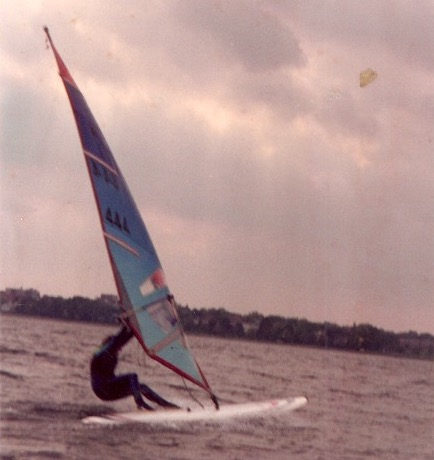 Maggie Taylor windsurfing