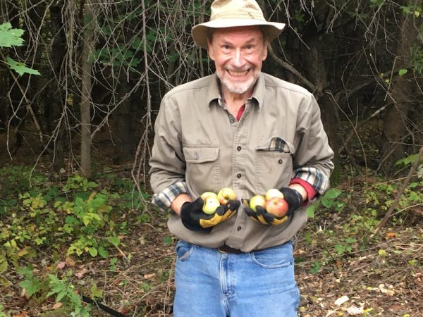 Barry Atwood holding apples