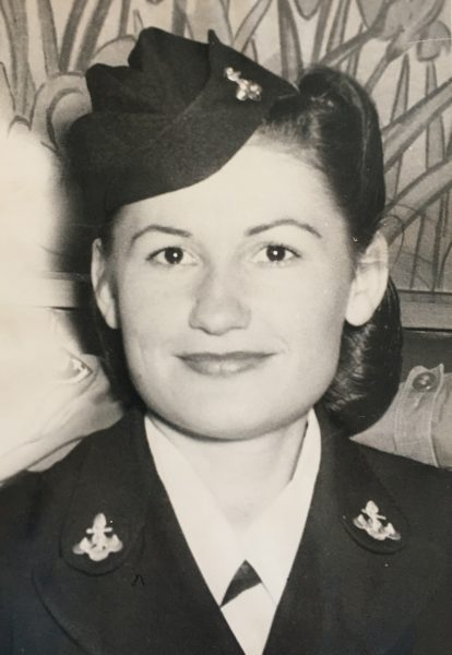 Leona Bright Chasse when she was in the Navy during WWII