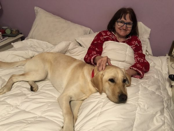 Kathy McInnis-Misenor and her NEADS service dog Sandy
