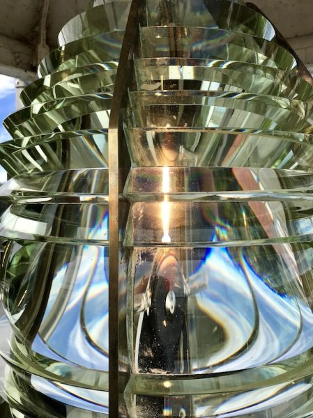 Fourth order fresnel lens at Fort Point lighthouse