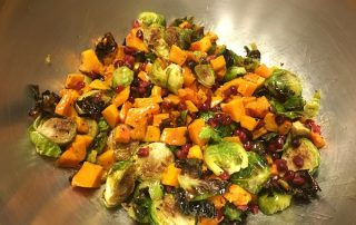 Butternut squash and Brussels sprouts salad