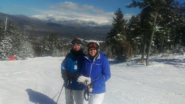 Joe skiing on Mt. Washington with his wife Debbie