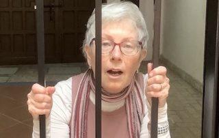 Deb Keating at the gate