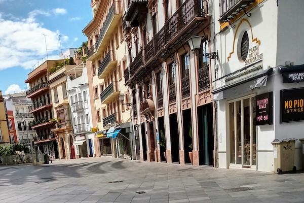Empty Spanish street