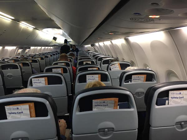 Nearly empty plane