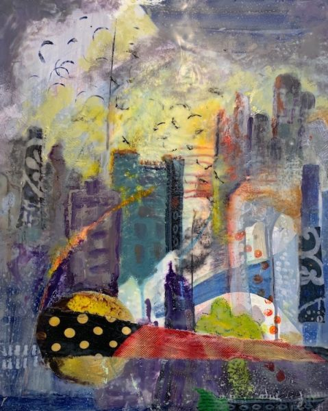 City Afternoon, Encaustic