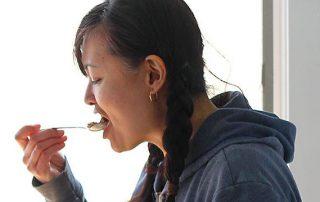 Jen eating ice cream