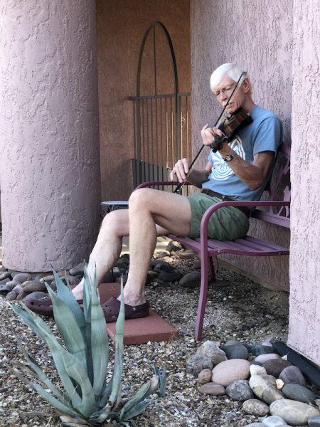 Fred Craigie on fiddle