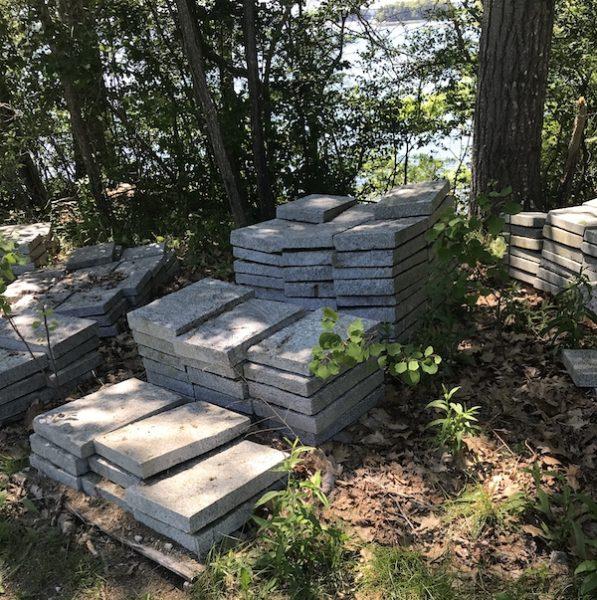 Stack of granite blocks