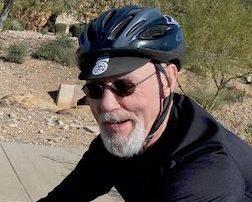 Russ Lamer on bike