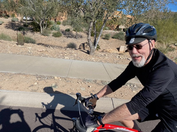 Russ Lamer on bike/AZ