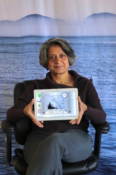 Dr. Piali De holding Ibis tablet