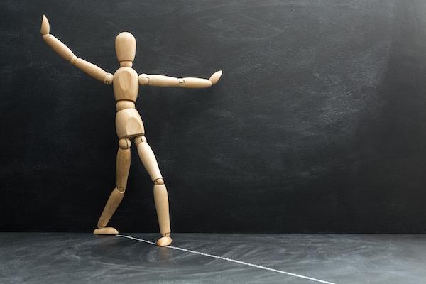 Artist model balanced