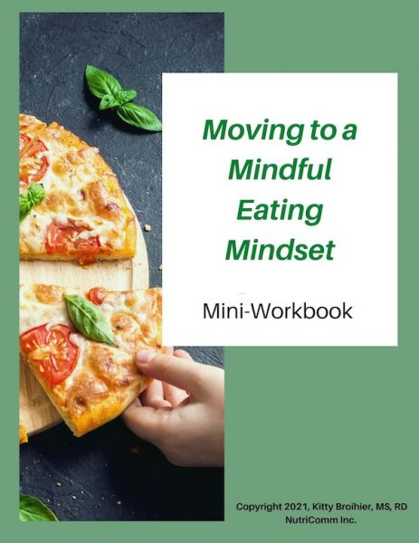Mindful eating workbook cover