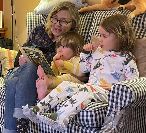 Nana reading to her grandchildren