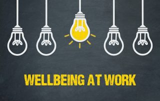 Wellbeing at work graphic
