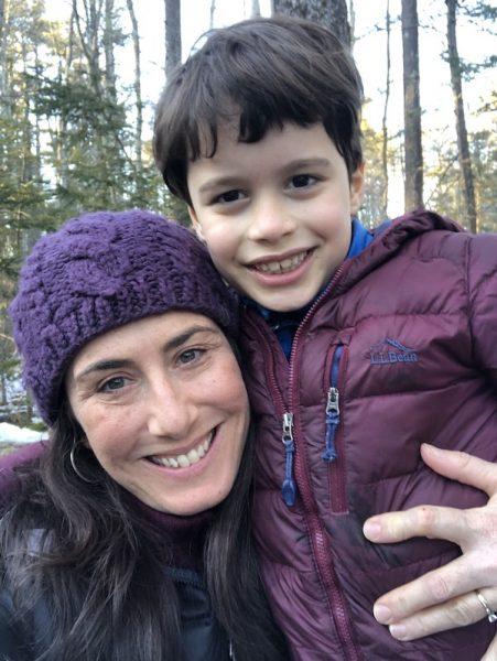 Anush Hanson and son