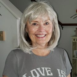 Diane wearing wig