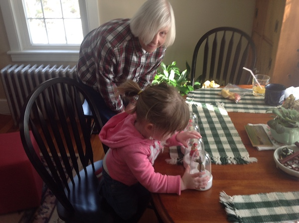 Alzheimer's Deb with her granddaughter